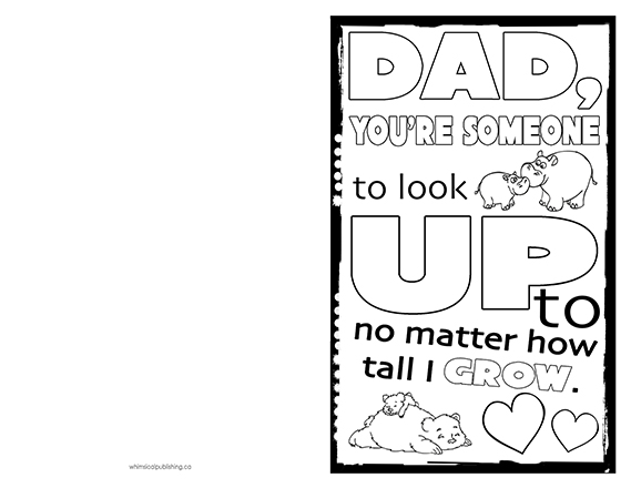 It is a picture of Zany Fathers Day Card Template Free